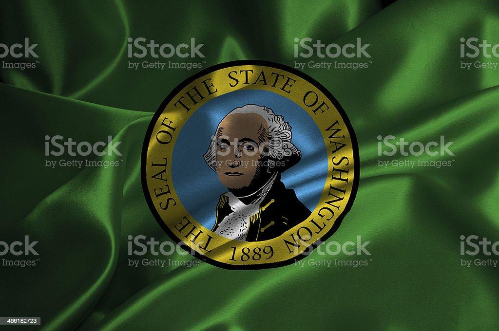 Washington flag stock photo