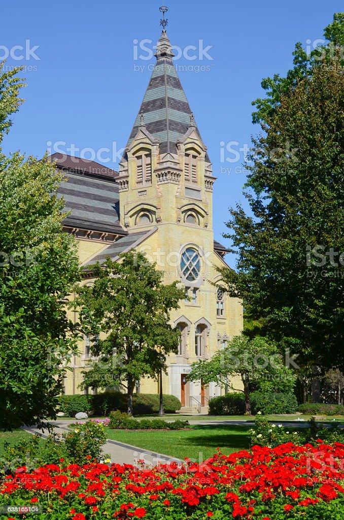 Washington Hall at University of Notre Dame stock photo