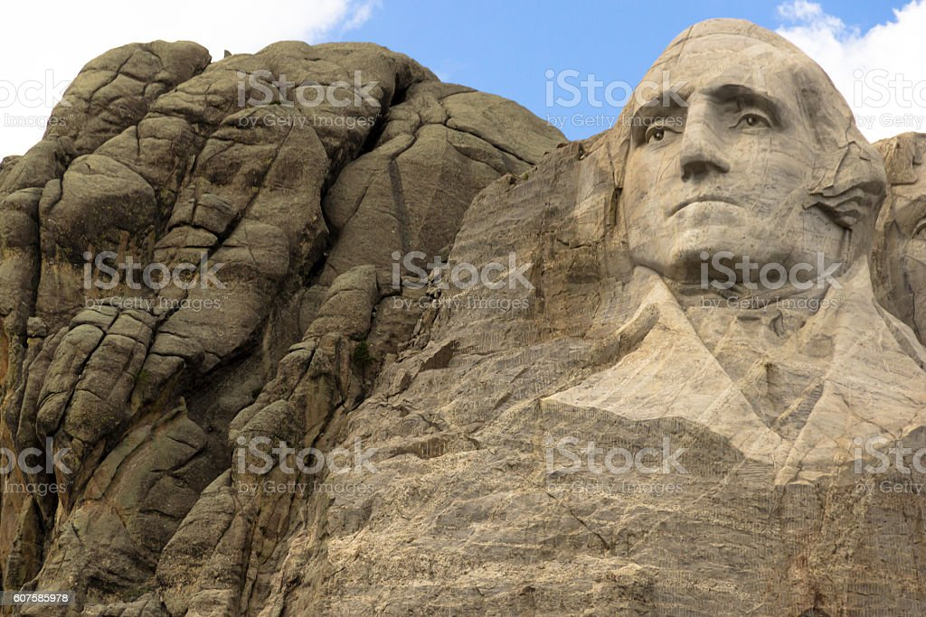 Washington In Stone stock photo