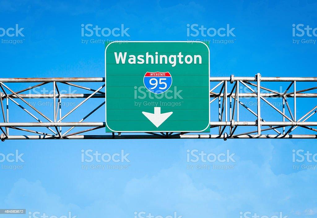 Washington Interstate 95 Sign stock photo