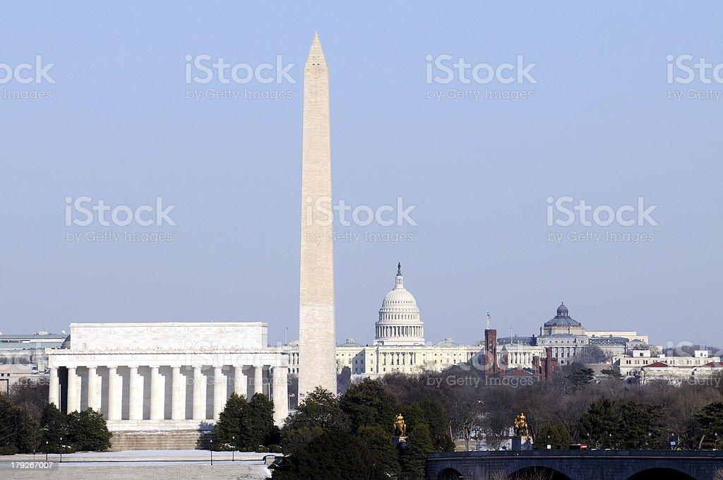 Washington landmarks stock photo