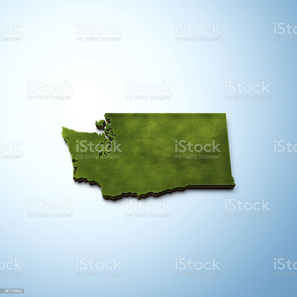 Washington Map stock photo