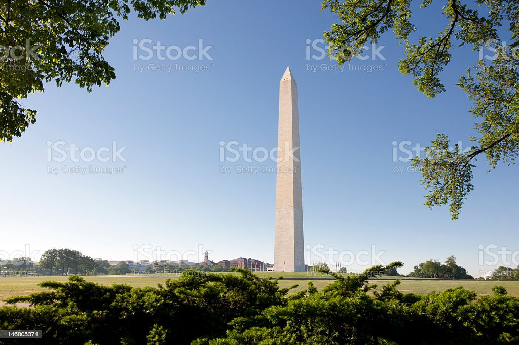 Washington Monument Against Clear Blue Sky royalty-free stock photo