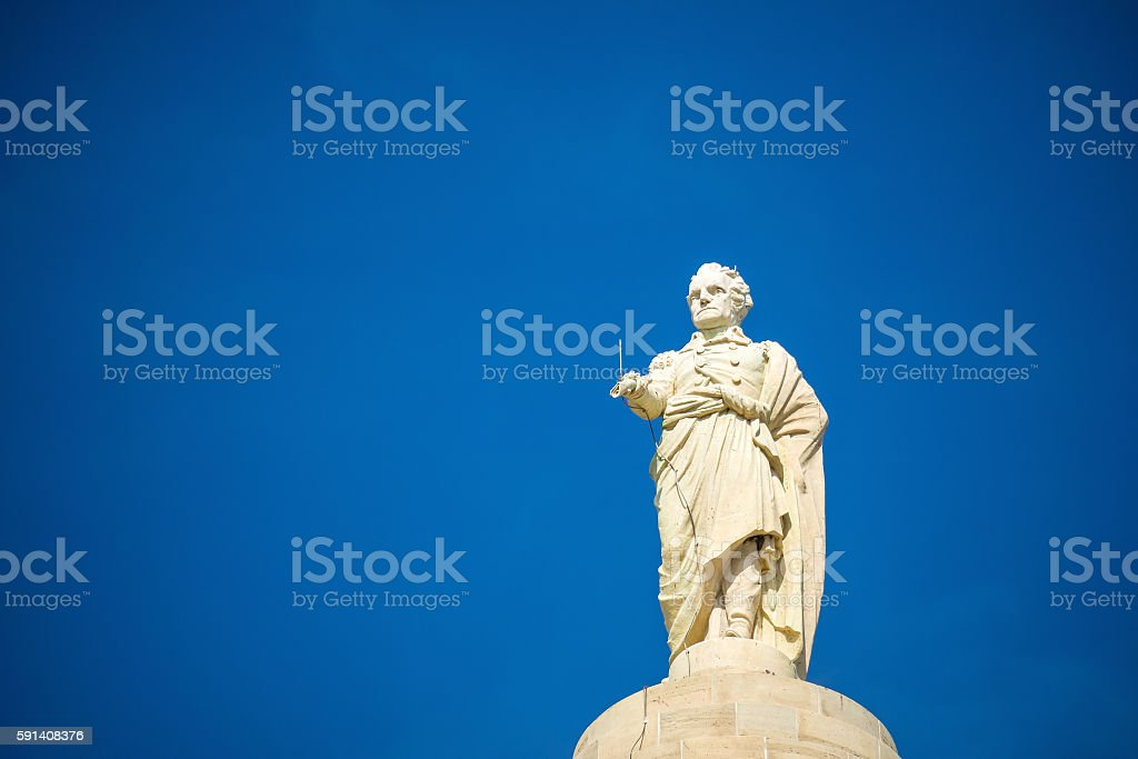Washington Monument and Mount Vernon Place stock photo