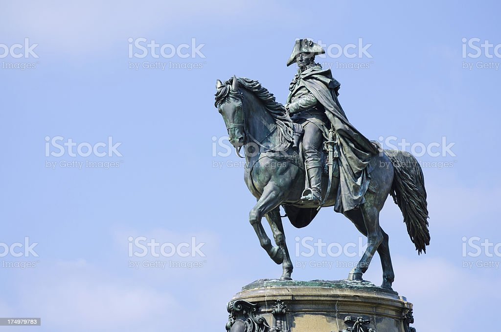 Washington Monument at Eakins Oval in Philadelphia, PA stock photo