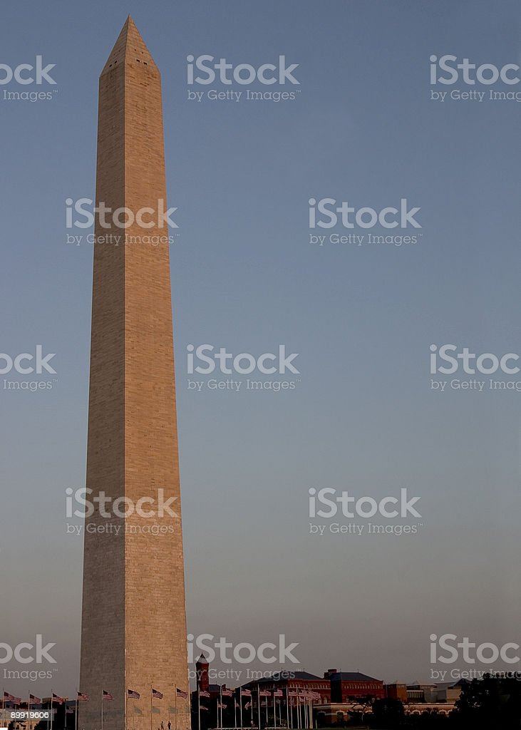 Washington Monument at Sunset royalty-free stock photo