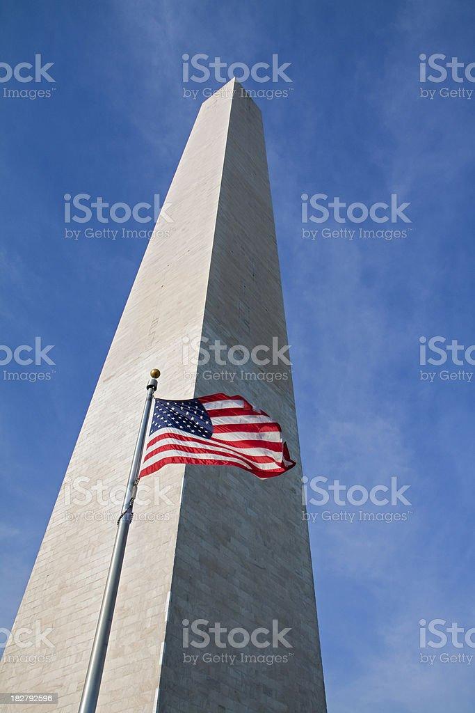 Washington Monument from below royalty-free stock photo