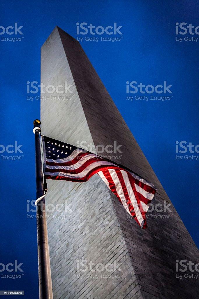 Washington Monument in Washington DC stock photo