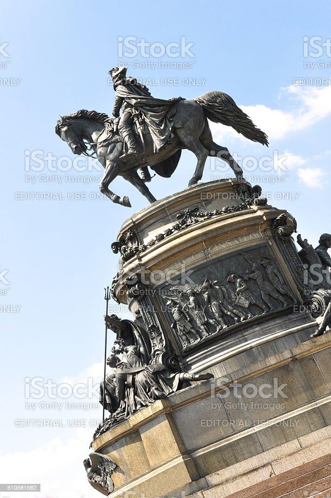 Washington Monument, Philadelphia stock photo