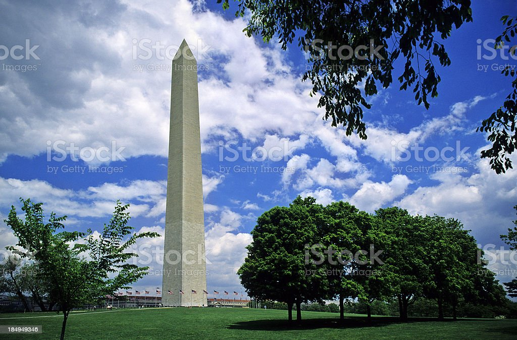 Washington Monument stock photo