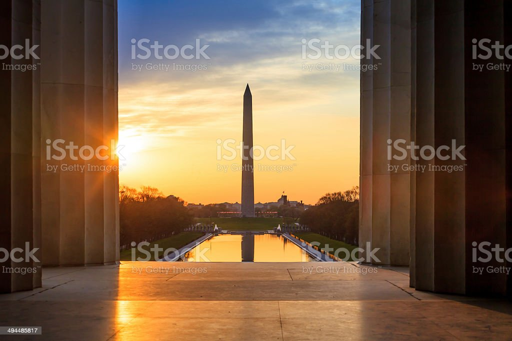 Washington Monument stock photo