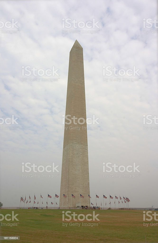 Washington Monument, Surrounded by Flags royalty-free stock photo