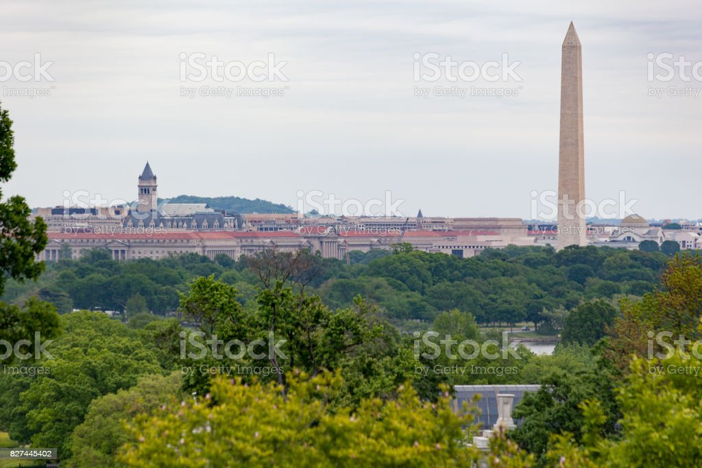 Washington Monument Washington DC, USA stock photo