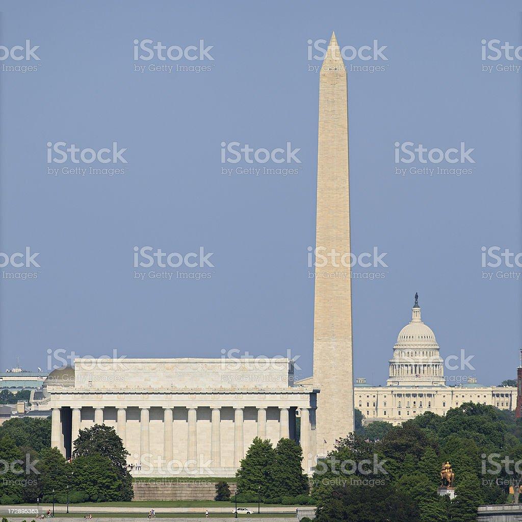 Washington Monuments royalty-free stock photo