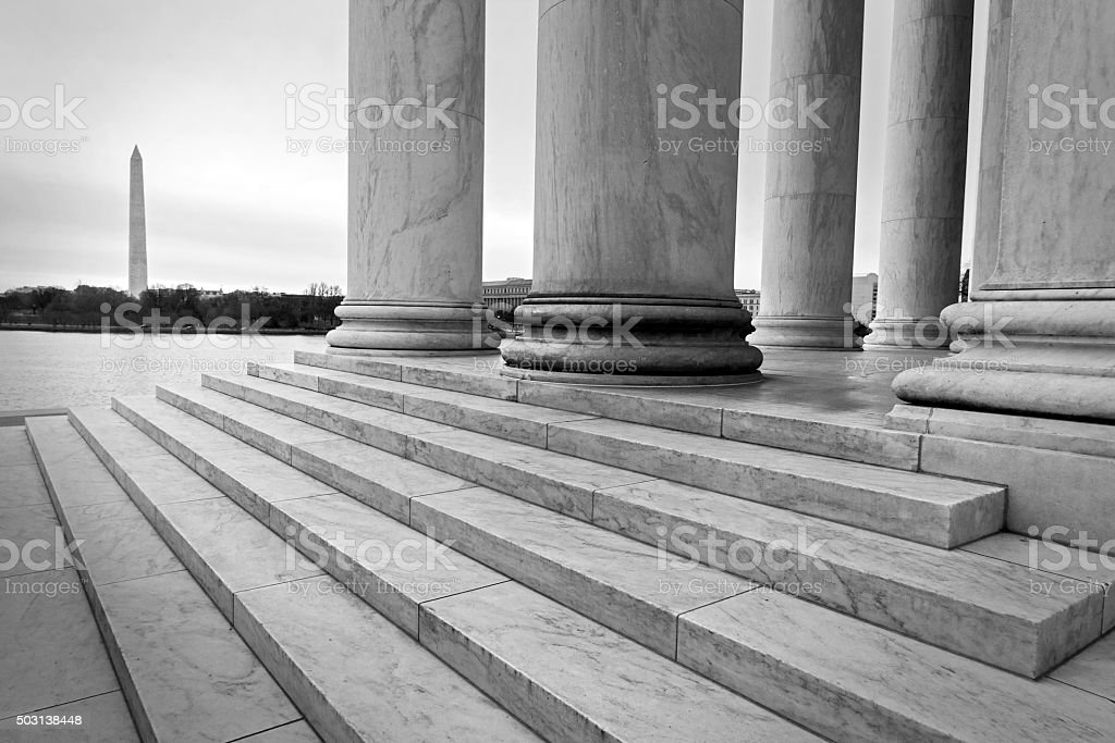 Washington Monuments stock photo
