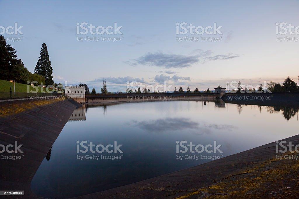 Washington Park Reservoir stock photo