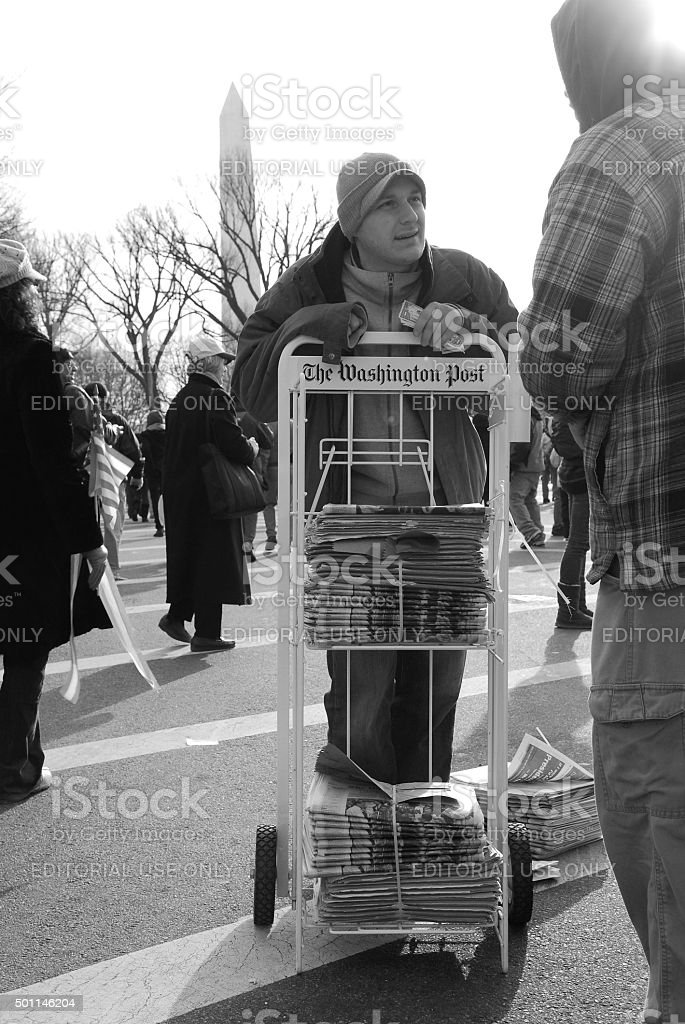 Washington Post newspaper for sale stock photo