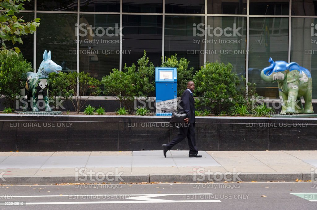 Washington Post office in Washington DC stock photo