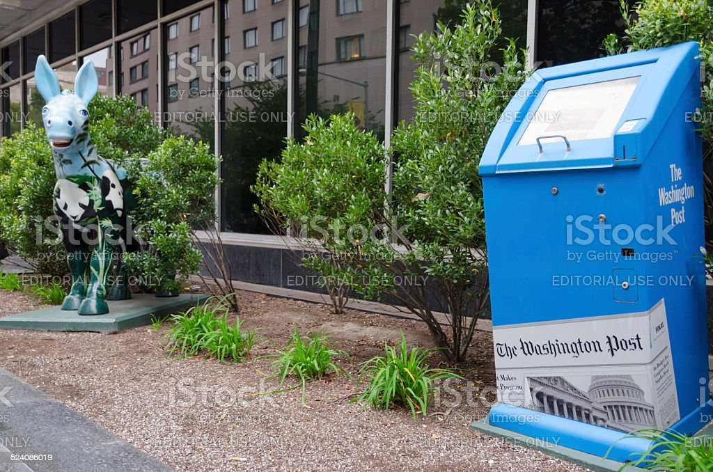 Washington Post office in Washington DC stock photo