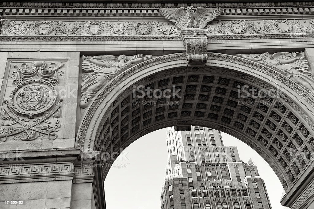 Washington Square Arch Greenwich Village New York City stock photo