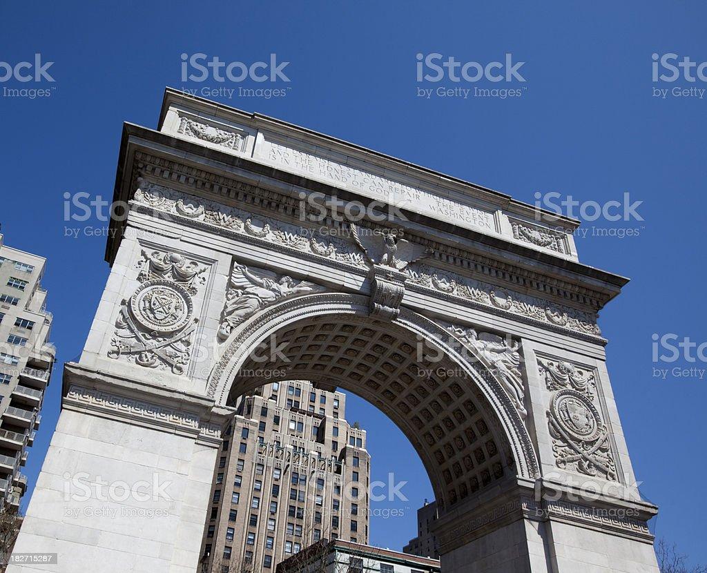 Washington Square Arch in New York City stock photo