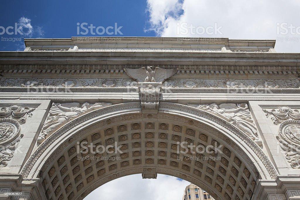 Washington Square Arch in New York stock photo
