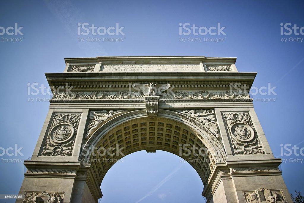 Washington Square Arch stock photo