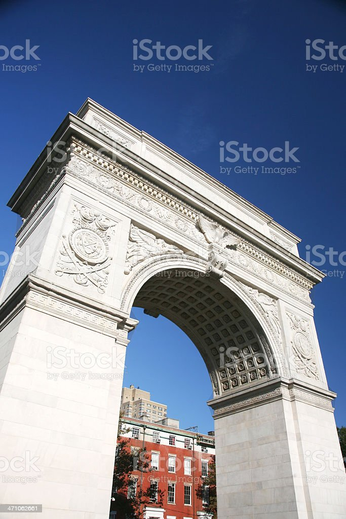 Washington Square Arch royalty-free stock photo
