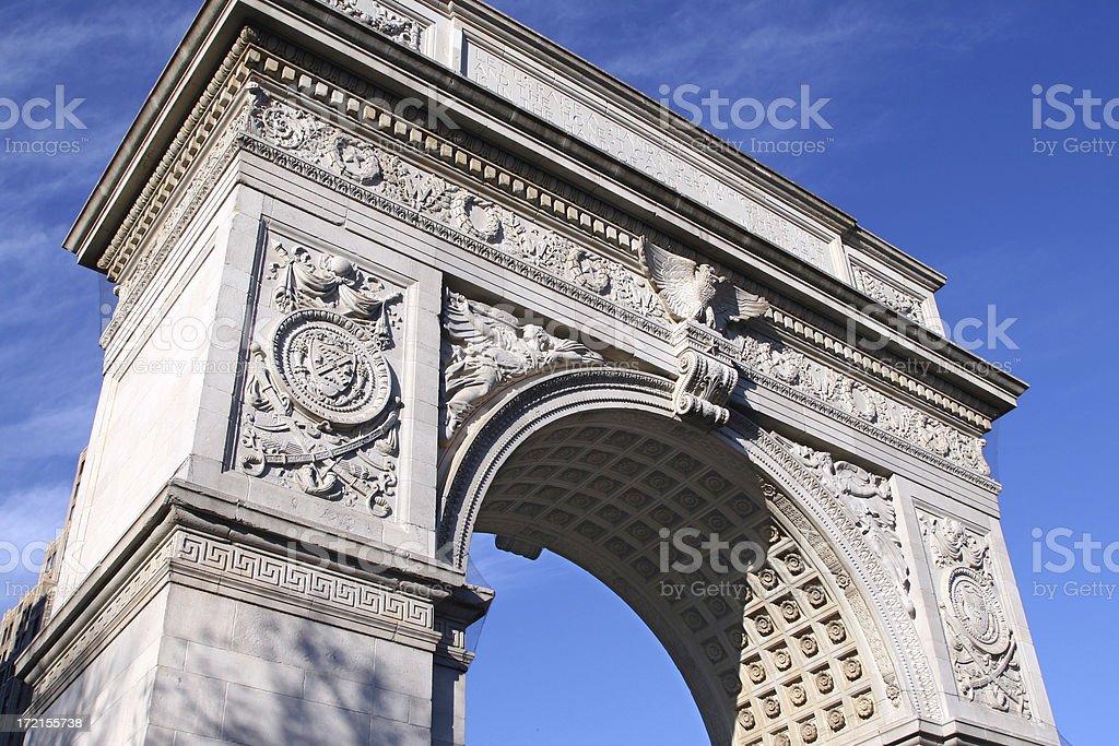 washington square park arch, new york city, ny royalty-free stock photo