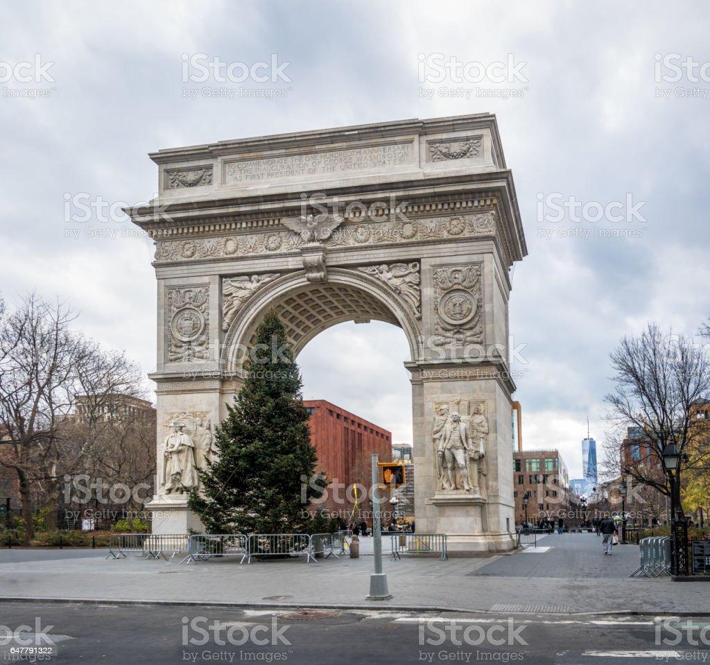 Washington Square Park Arch - New York, USA stock photo