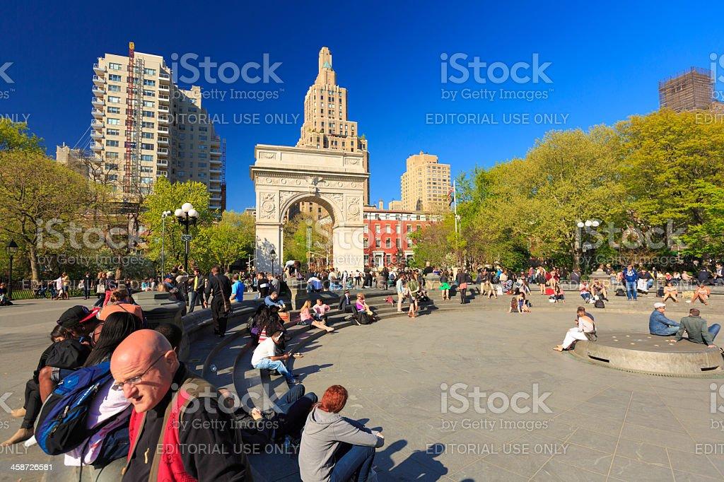 Washington Square Park in New York City stock photo