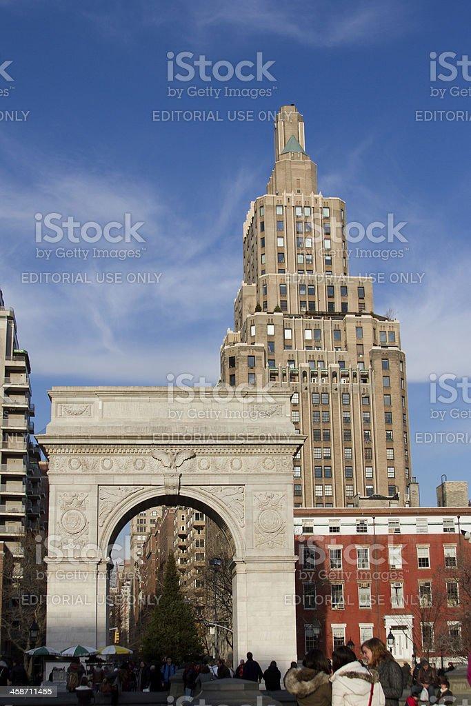 Washington Square Park stock photo