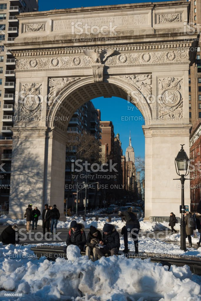 Washington Square stock photo
