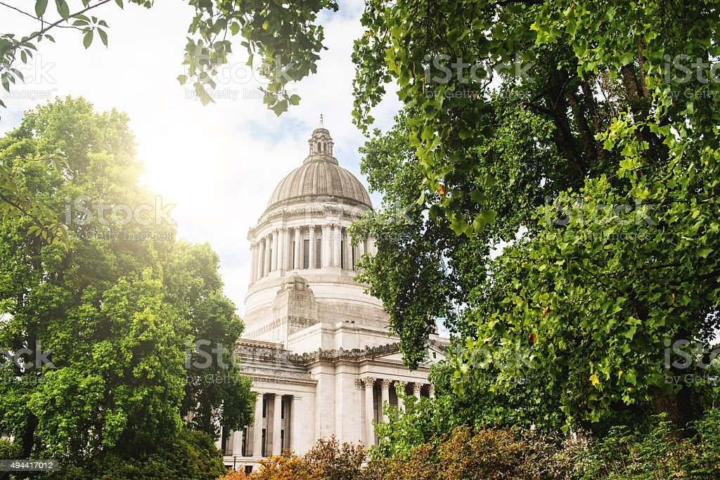 Washington state capital building in Olympia stock photo