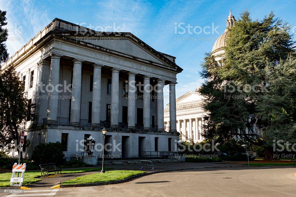 Washington State Capitol Insurance Building stock photo