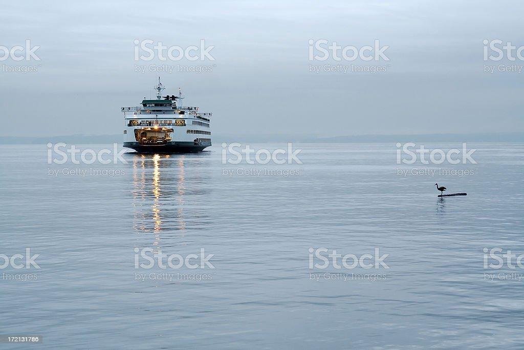 Washington State Ferry Boat royalty-free stock photo