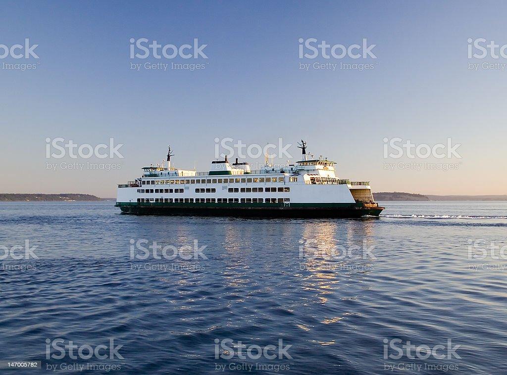 Washington State Ferry Early Morning Trip stock photo