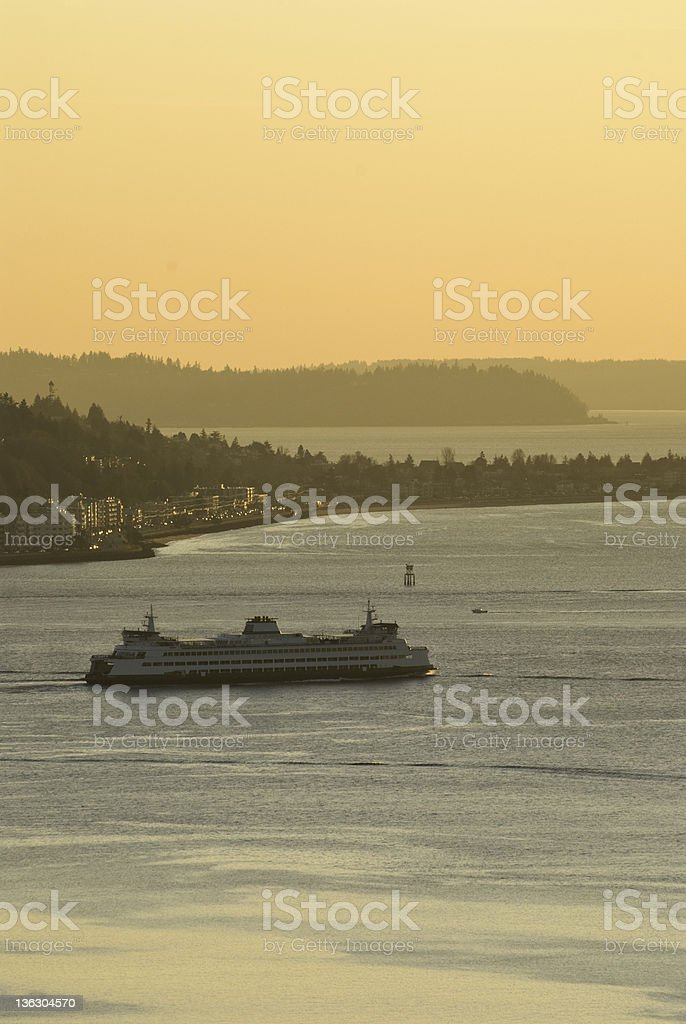 Washington State Ferry royalty-free stock photo