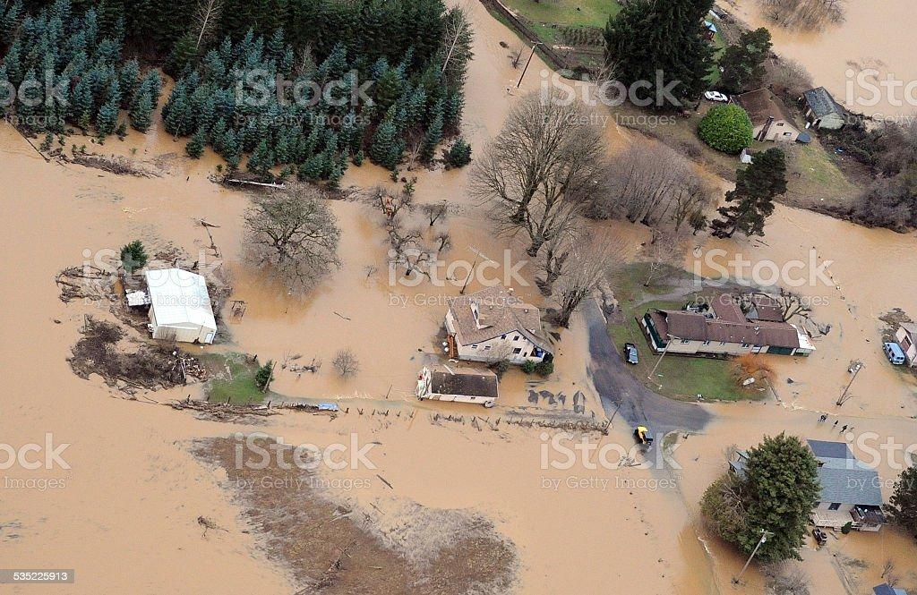 Washington State Flood stock photo