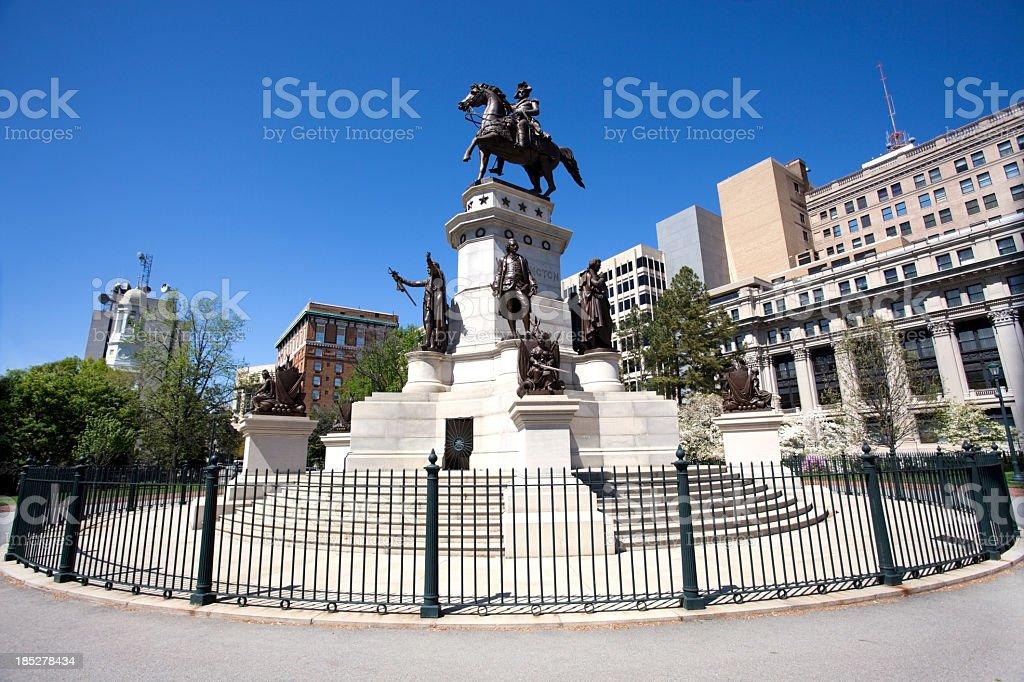Washington Statue stock photo
