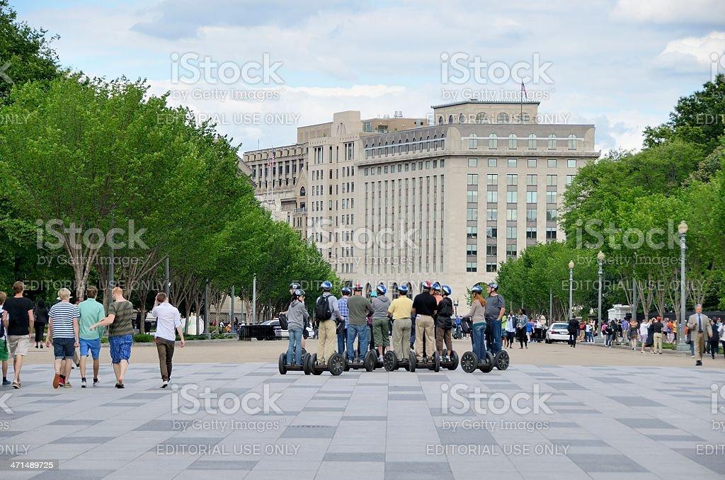 Washington Street Scene royalty-free stock photo
