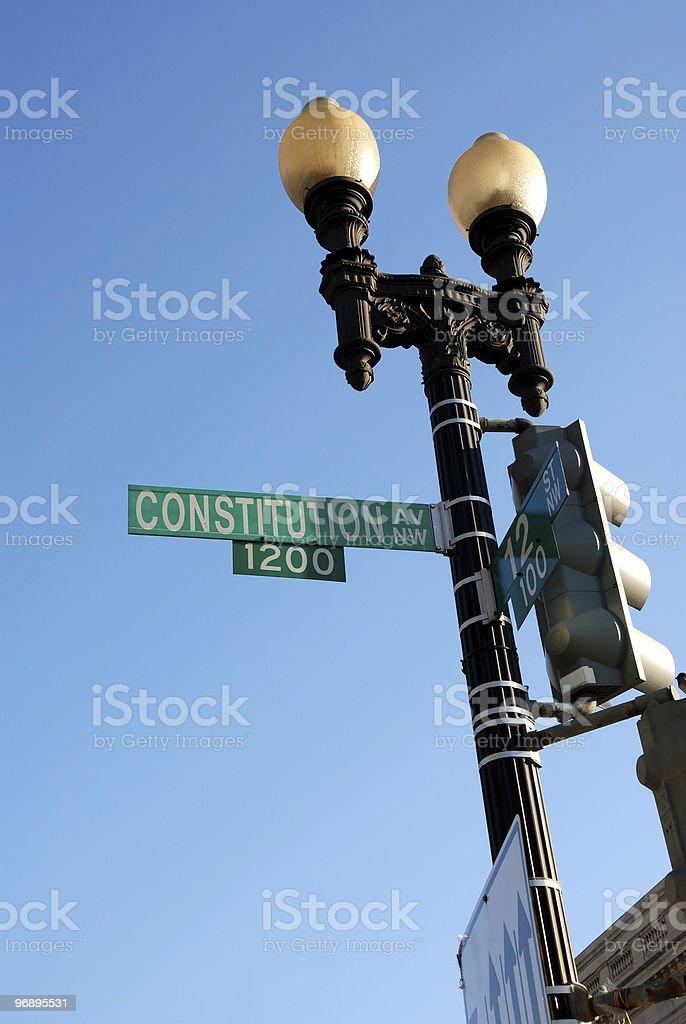 Washington Street Sign stock photo