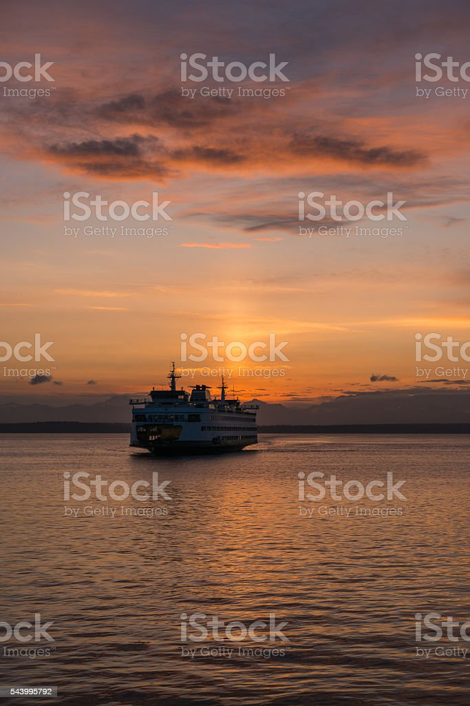 Washington Sunset stock photo