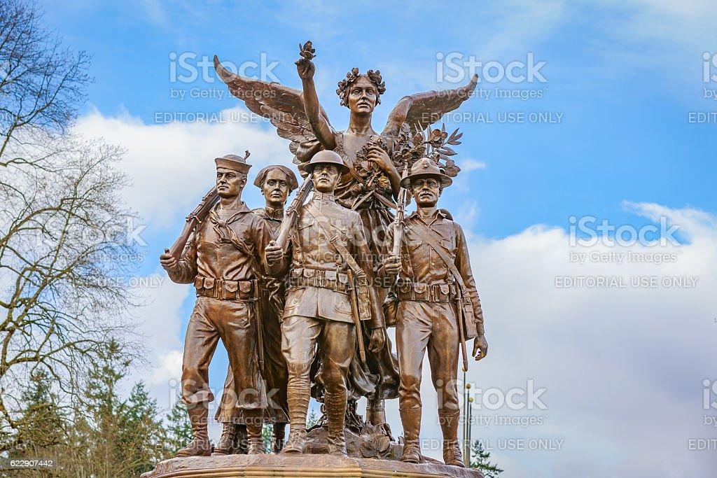 Washington Winged Victory Monument stock photo