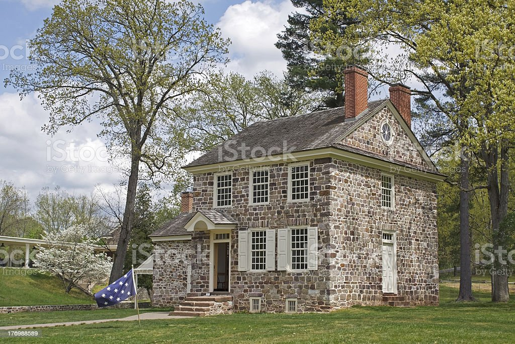 Washington's Valley Forge Headquarters stock photo