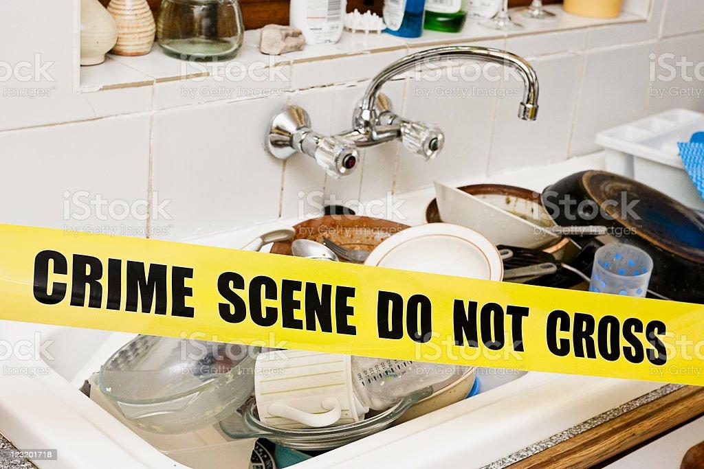 Washing-up crime stock photo