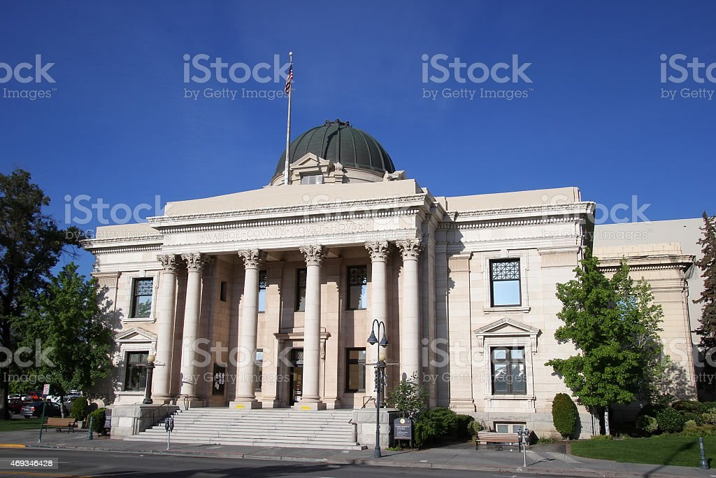 Washoe County Courthouse in Reno, Nevada stock photo
