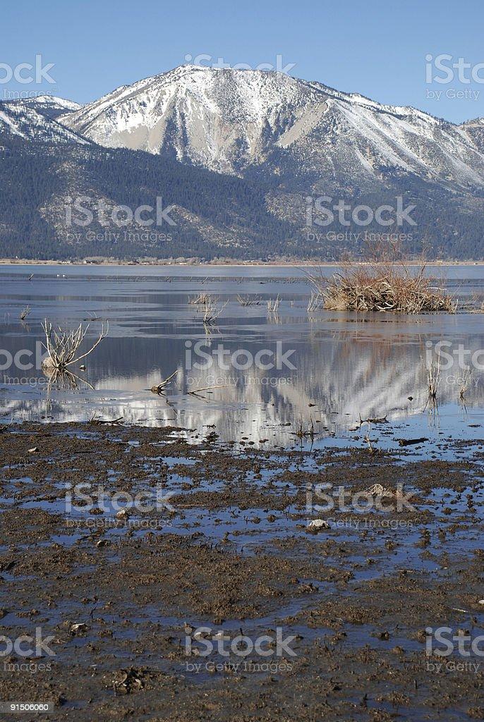 Washoe Lake Reflection royalty-free stock photo