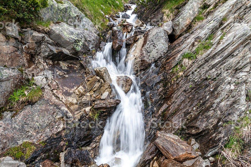 Wasserfall im Maltatal stock photo