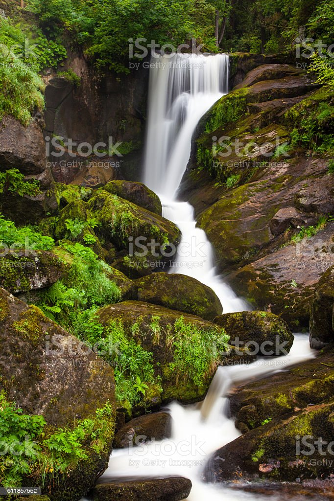 Wasserfall im Schwarzwald Triberg stock photo